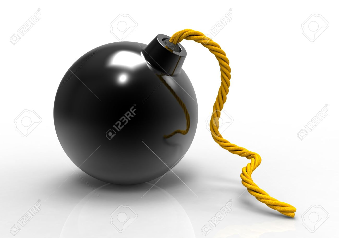 3d render of cannonball bomb isolated Stock Photo - 9983281