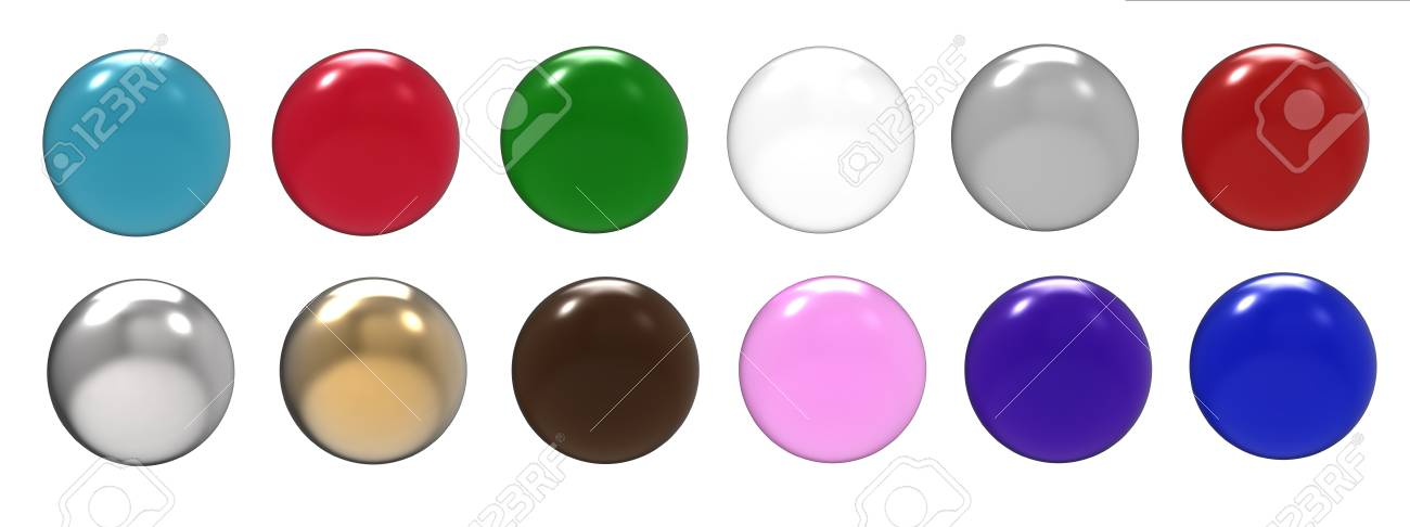 Balls of different shades on a white background Stock Photo - 10700541