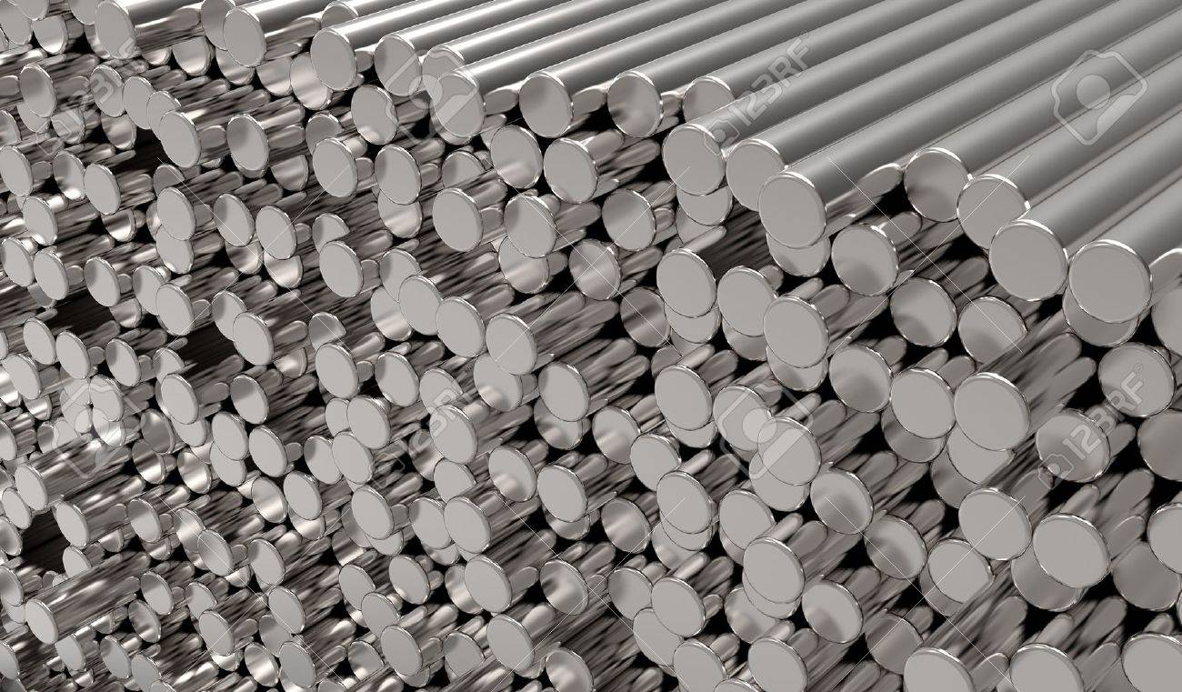 3d abstract  round metal bars Stock Photo - 12270799