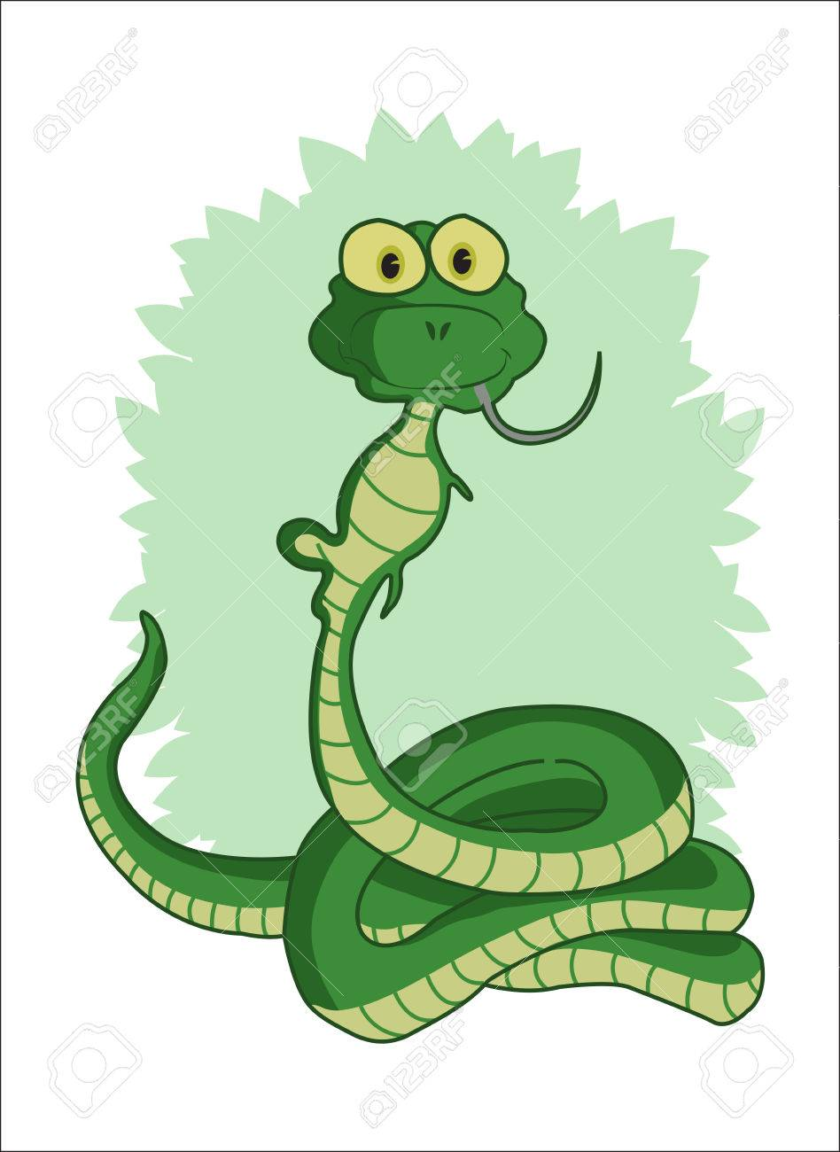 nake eating mouse Stock Vector - 24018126