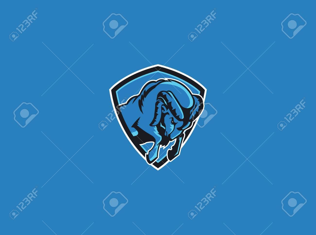 rams sport mascot Stock Vector - 24107547