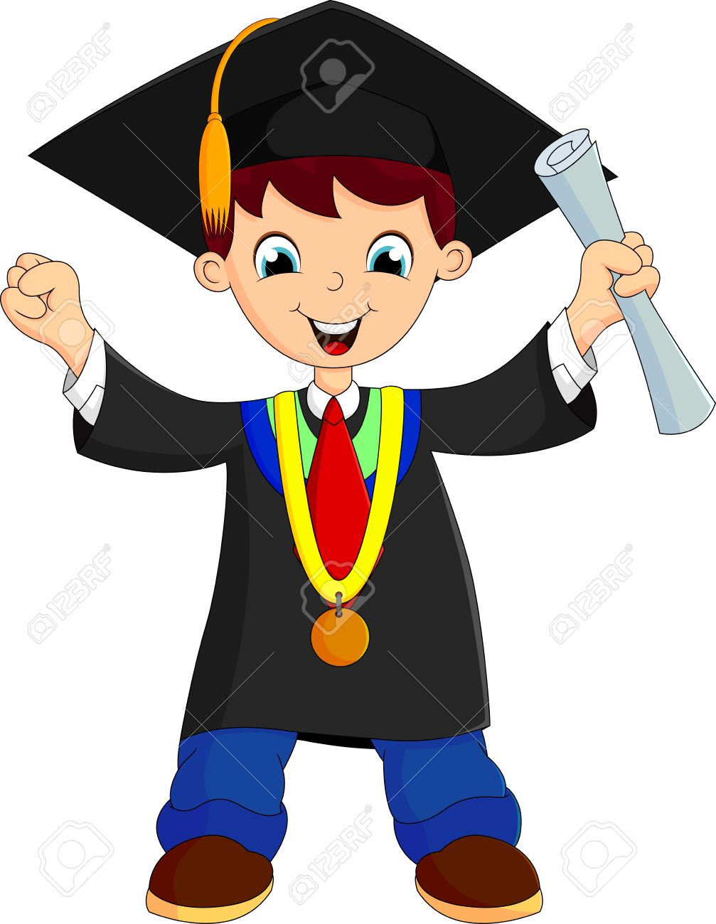 happy boy after graduation royalty cliparts vectors and vector happy boy after graduation