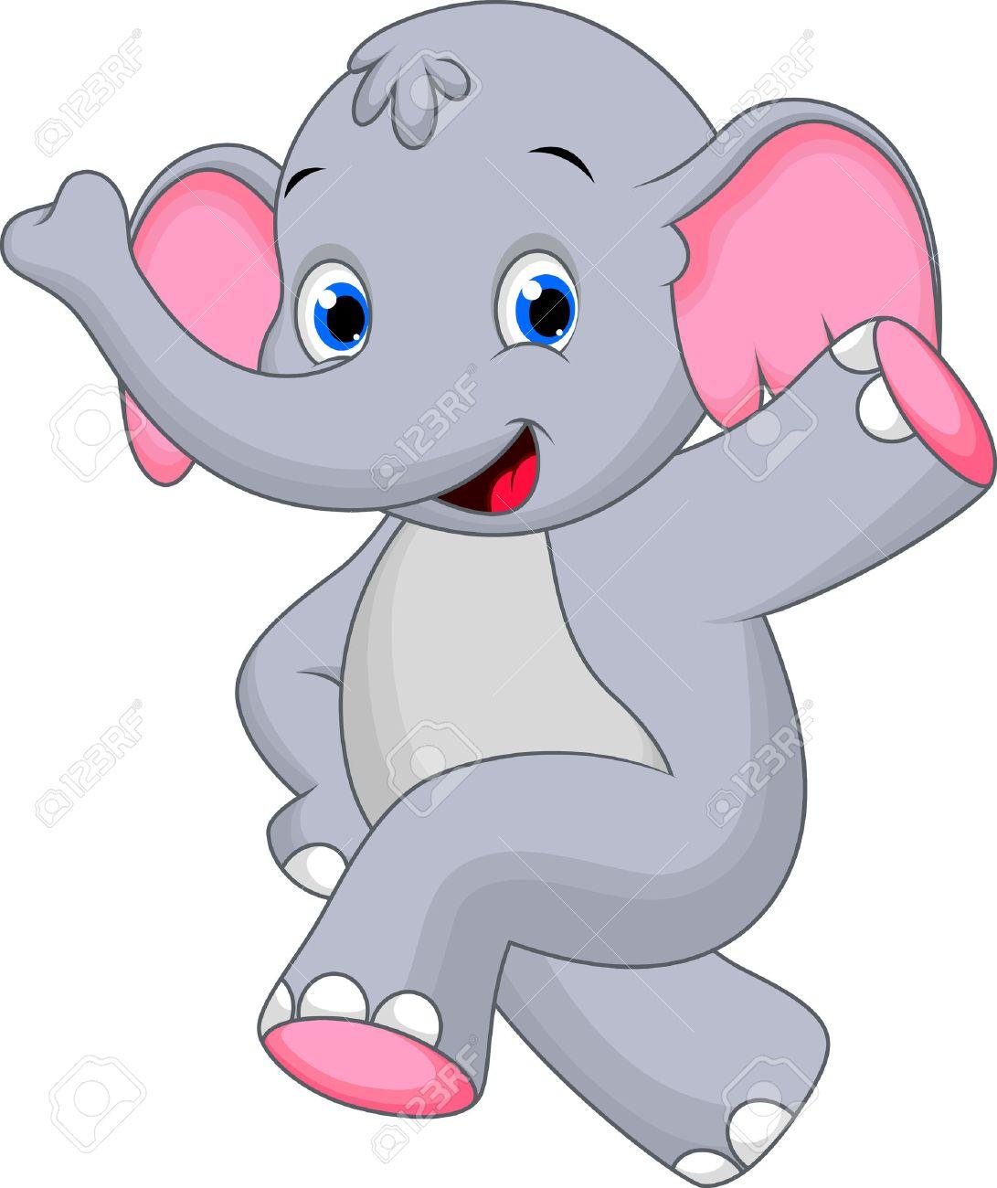 happy elephant cartoon royalty free cliparts vectors and stock