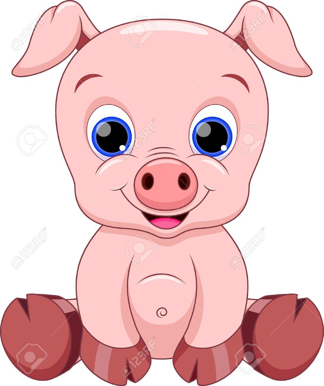 Cochon Dessin mignon dessin animé bébé cochon clip art libres de droits , vecteurs