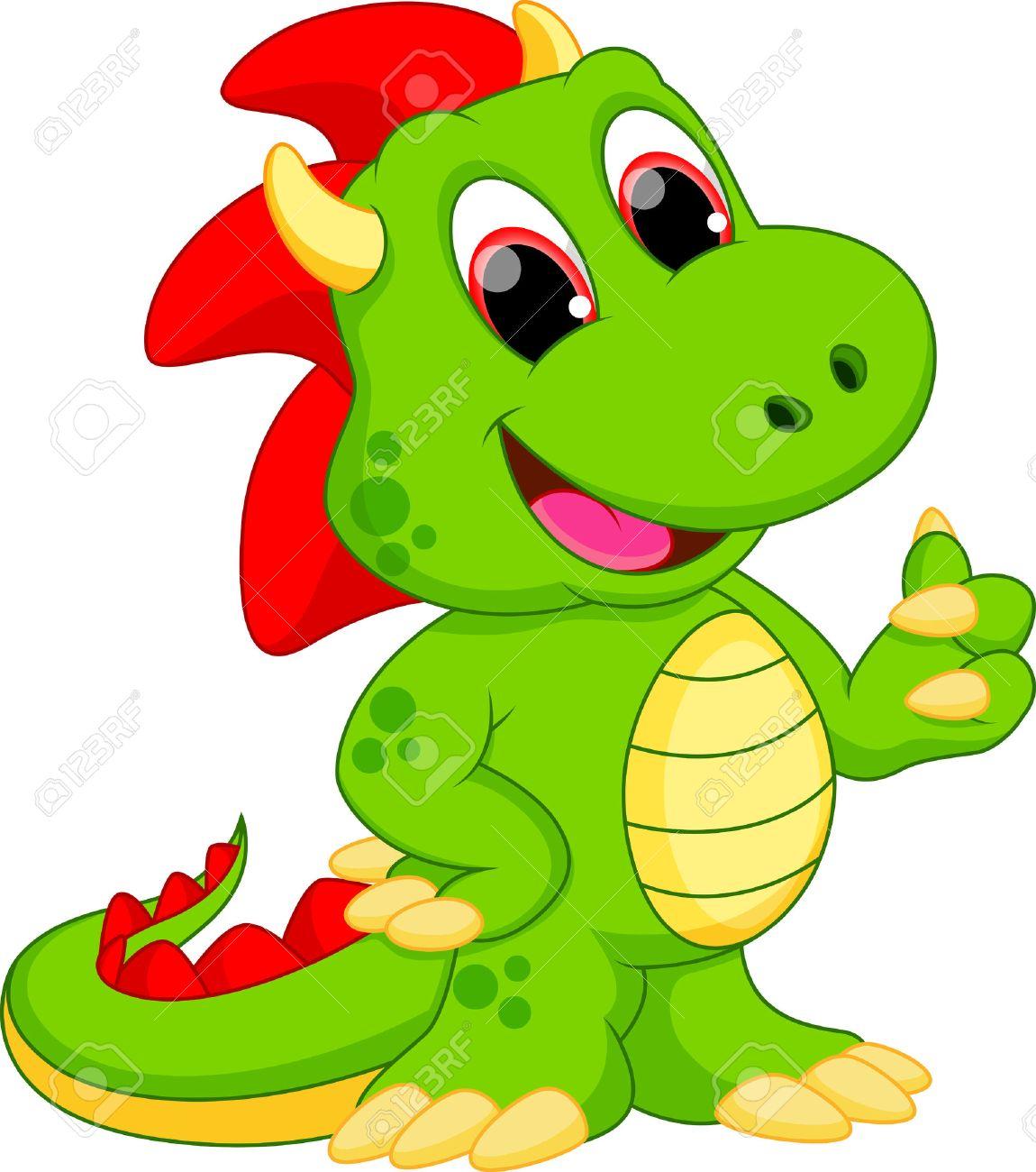 divertidos dibujos animados dragón ilustraciones vectoriales clip