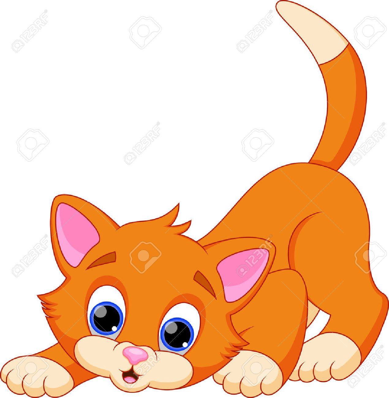 Divertidos dibujos animados del gato Foto de archivo , 28297820