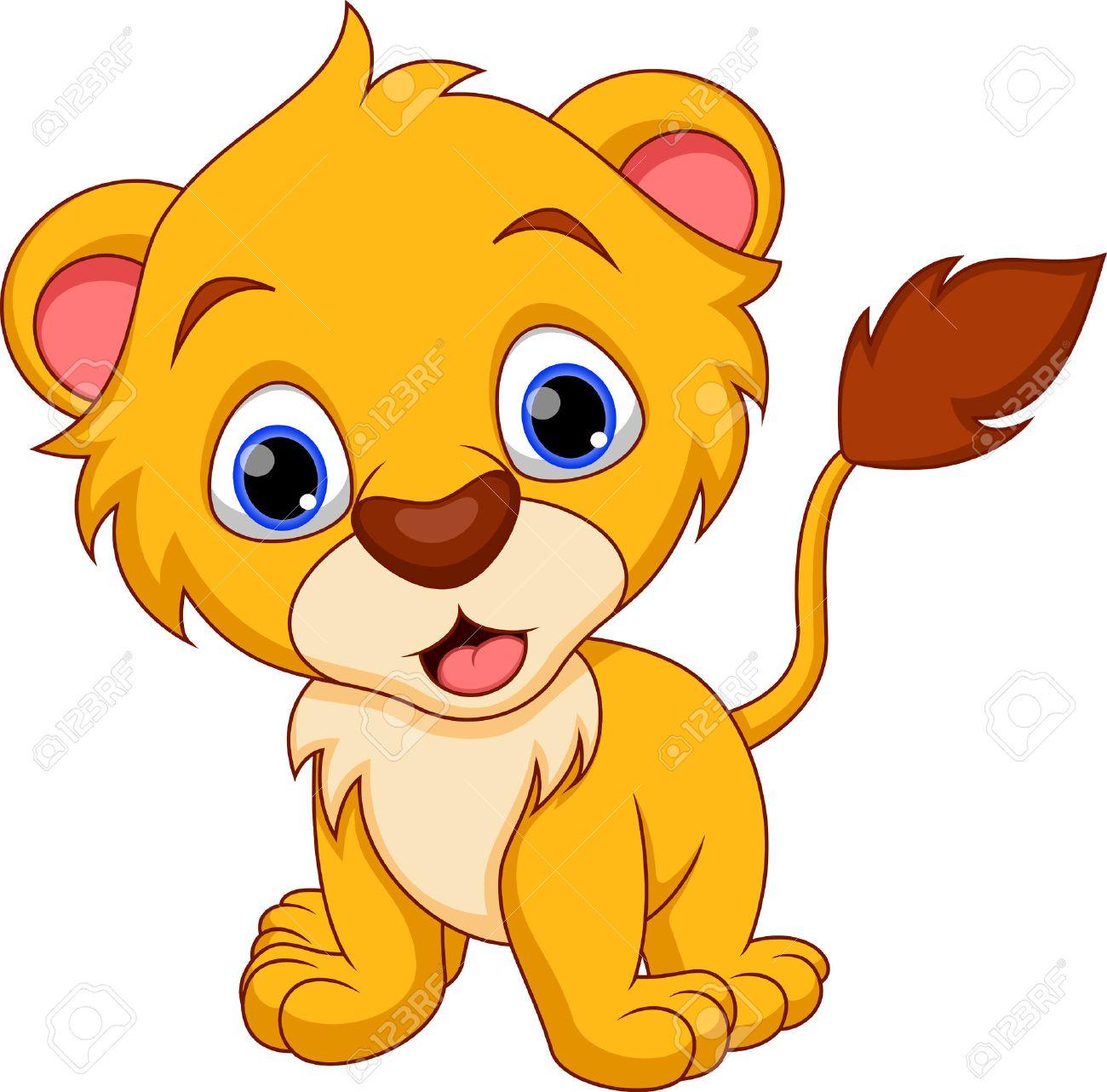 Cute baby lion cartoon royalty free cliparts vectors and stock cute baby lion cartoon stock vector 29315406 voltagebd Image collections