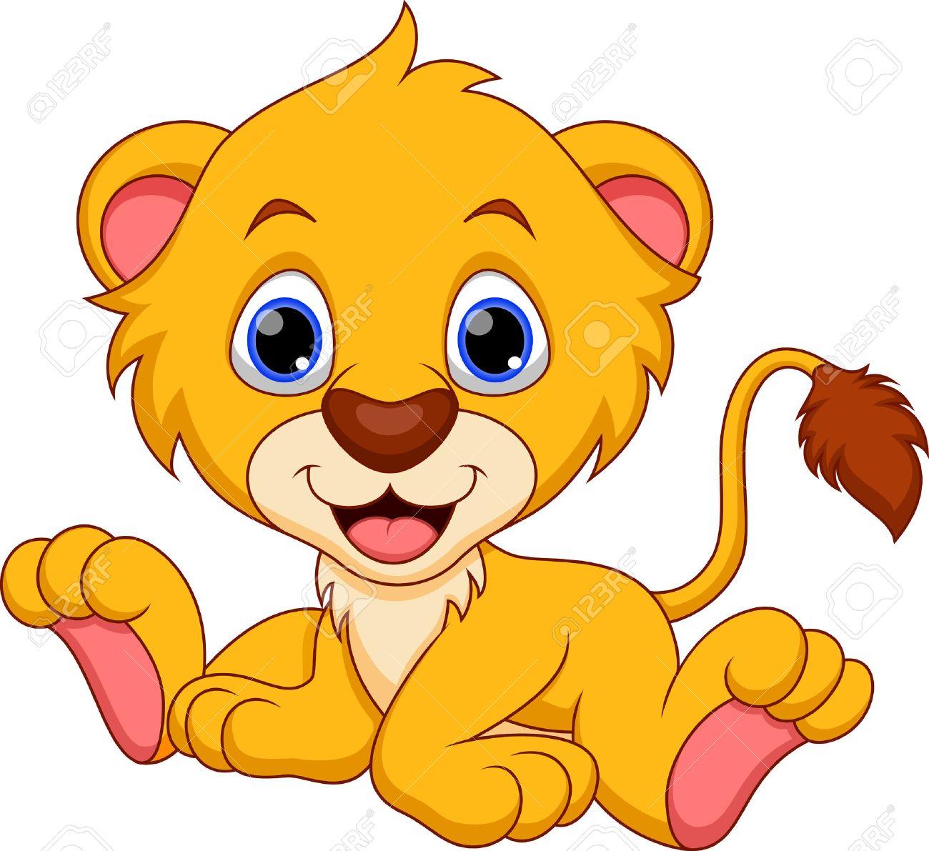 cute baby lion cartoon royalty free cliparts vectors and stock rh 123rf com lion cub clipart black and white free lion cub clipart