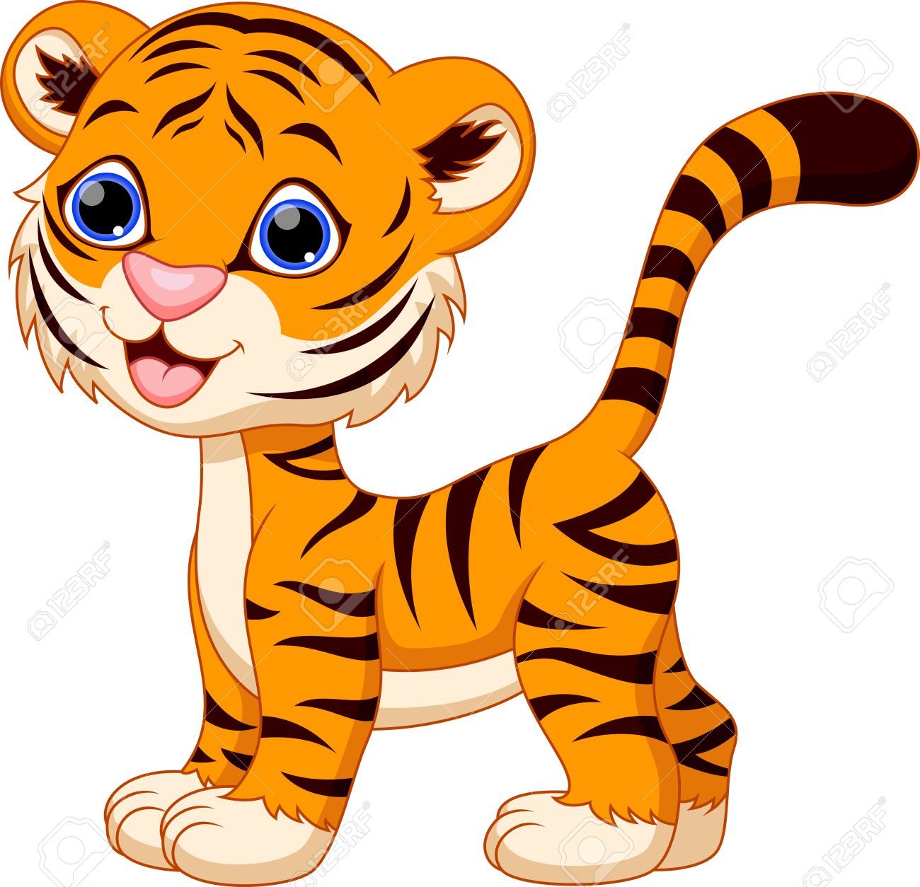 cute female tiger cartoon royalty free cliparts vectors and stock rh 123rf com cute tiger cub clipart tiger cub face clipart
