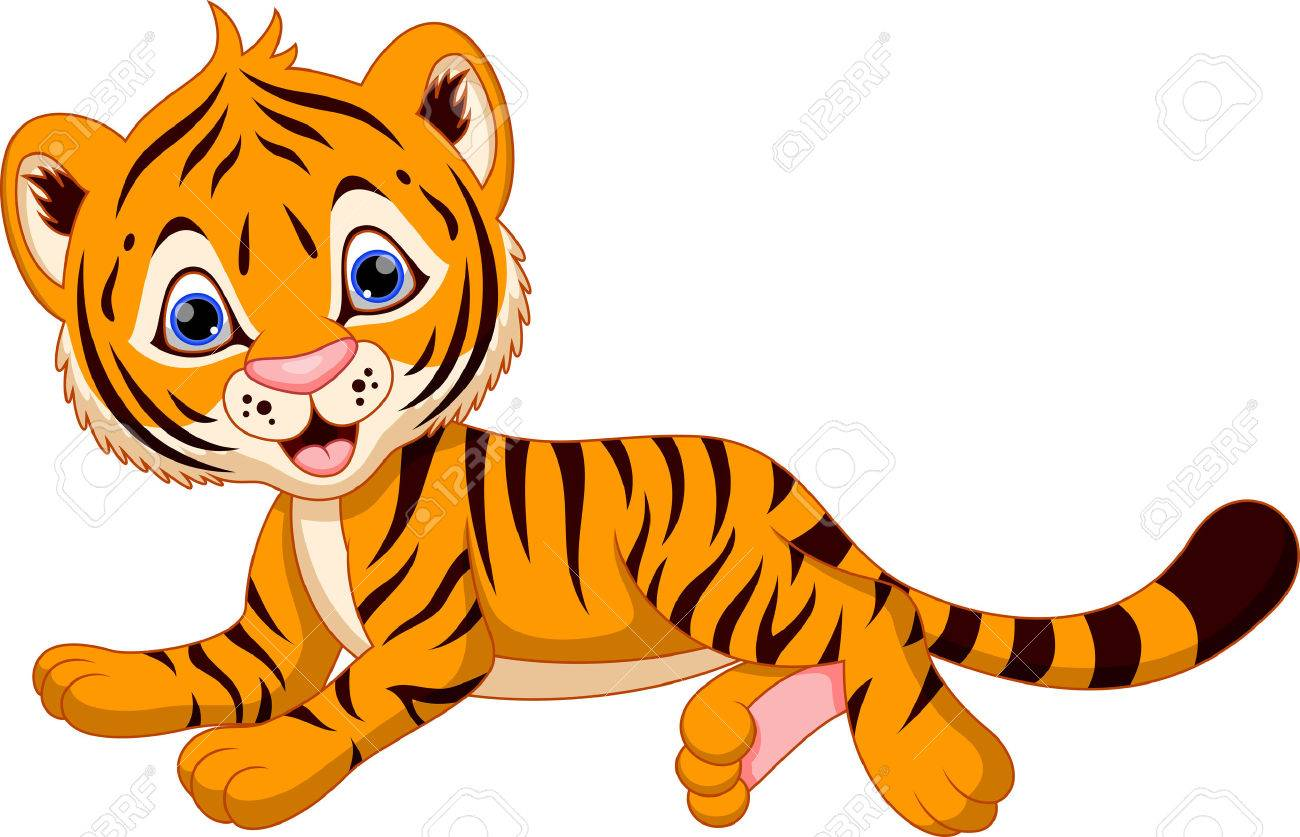 cute baby tiger cartoon royalty free cliparts vectors and stock rh 123rf com baby tiger clipart black and white baby tiger face clipart