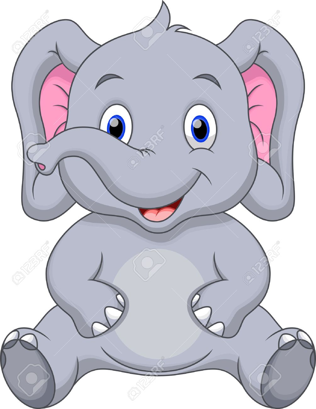 cute elephant cartoon royalty free cliparts vectors and stock