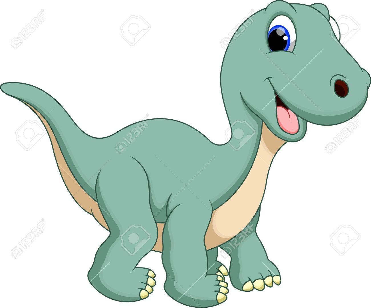 banque dimages dinosaure de bande dessine mignonne de diplodocus