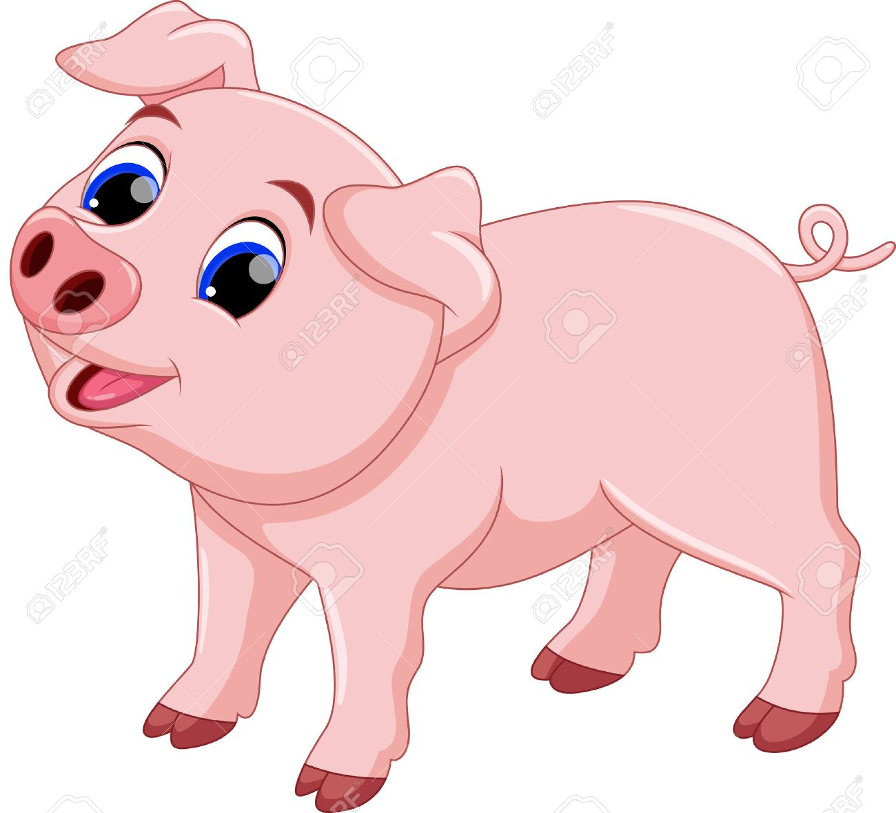 100 206 pig stock vector illustration and royalty free pig clipart rh 123rf com pig clipart png pig clipart black and white