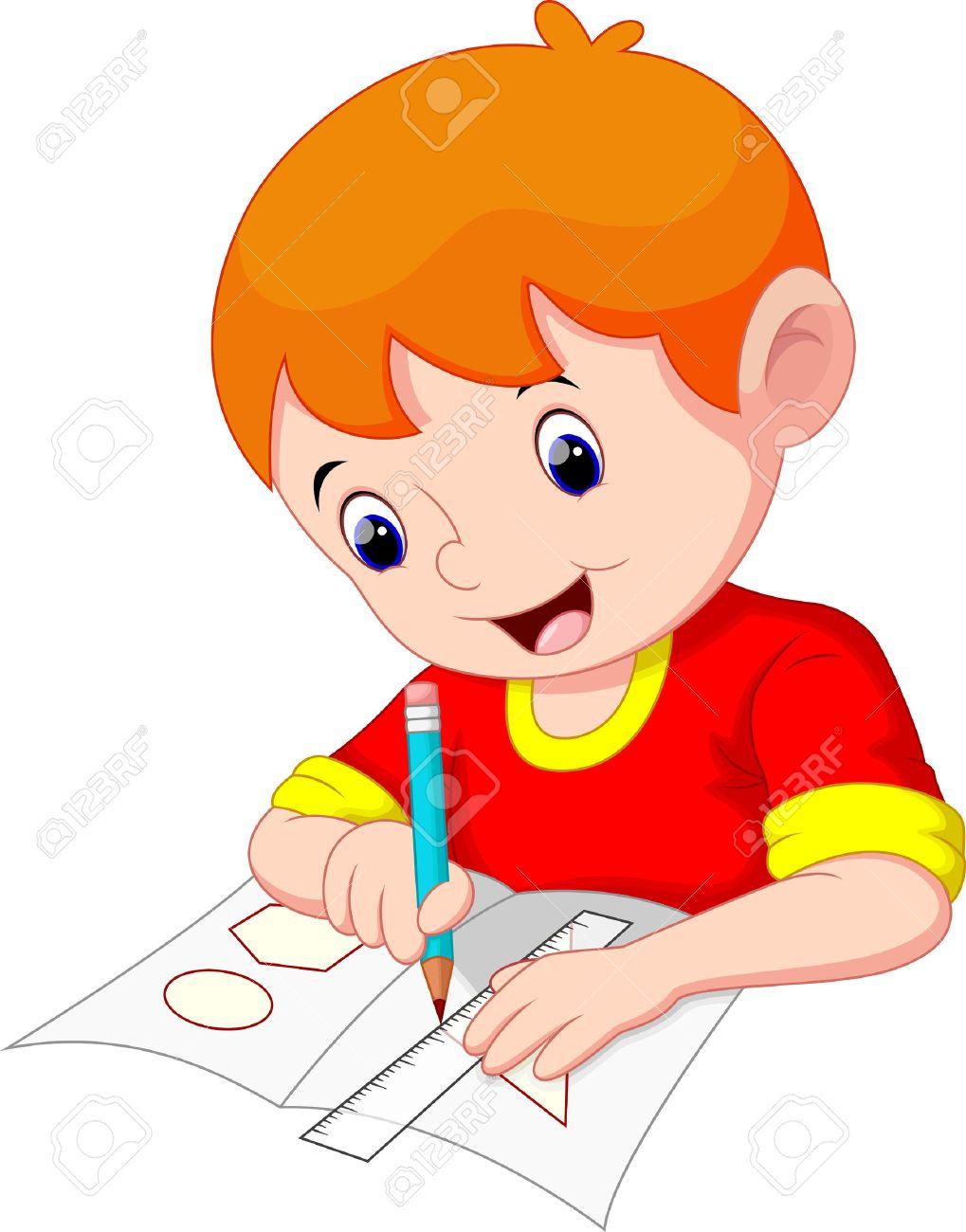 Gráfico Del Niño Pequeño En Un Pedazo De Papel Ilustraciones ...