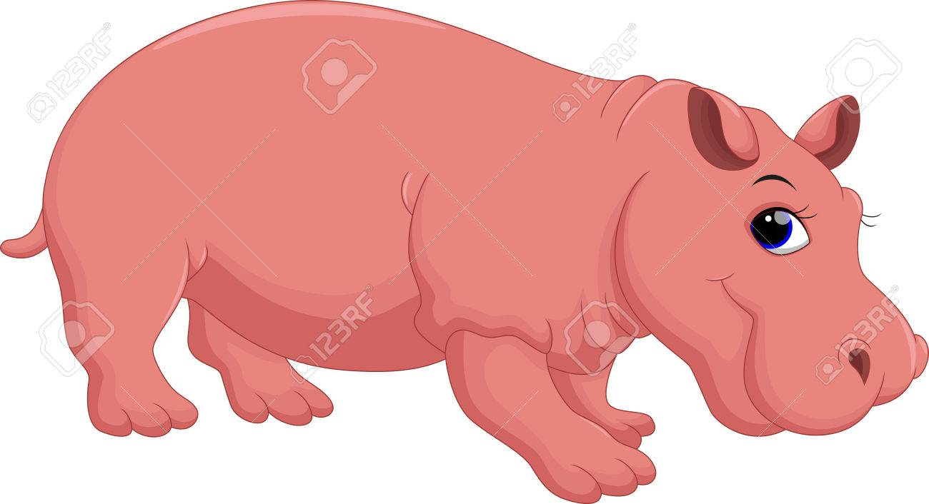 Dessin animé hippopotame