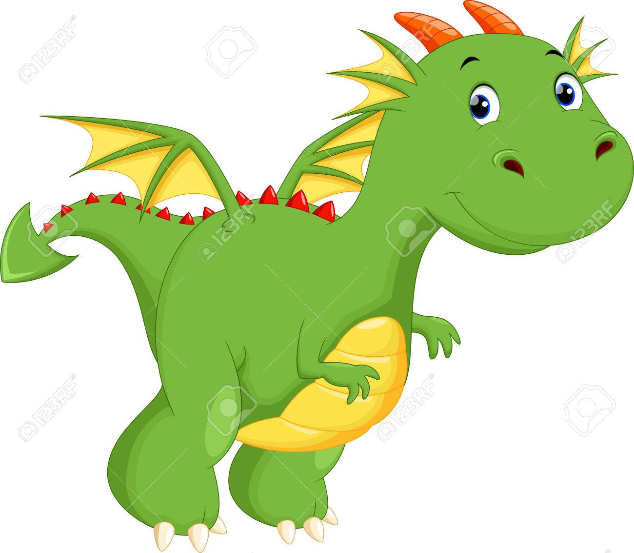Funny Dragon Cartoon Royalty Free Cliparts, Vectors, And Stock ...