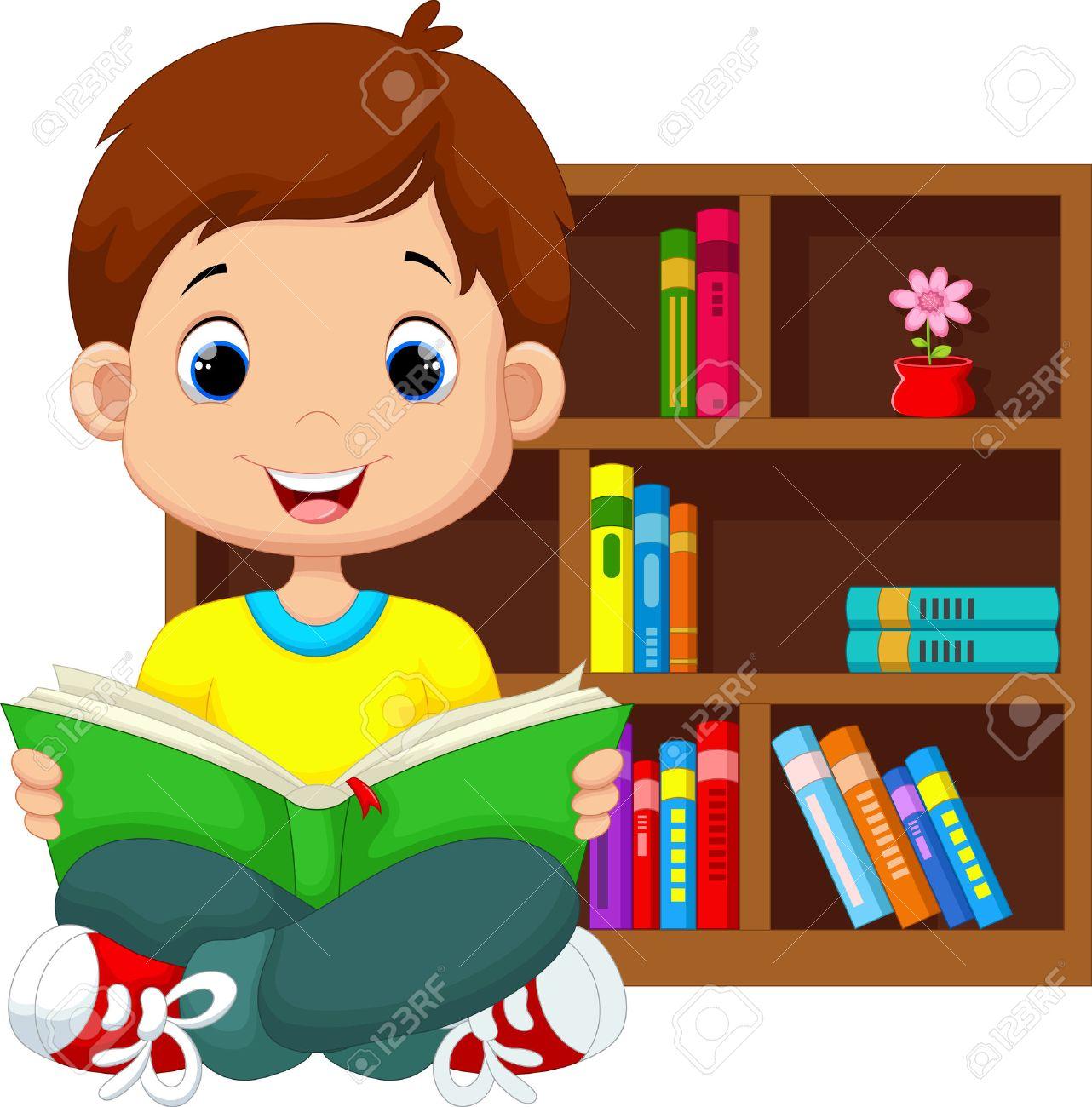 Little boy reading a book - 41721988