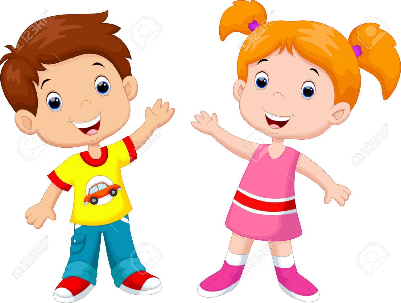 cute cartoon boy and girl royalty free cliparts vectors and stock rh 123rf com cartoon girl and boy pic cartoon girl and boy