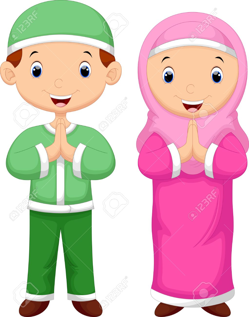 muslim kid cartoon royalty free cliparts vectors and stock