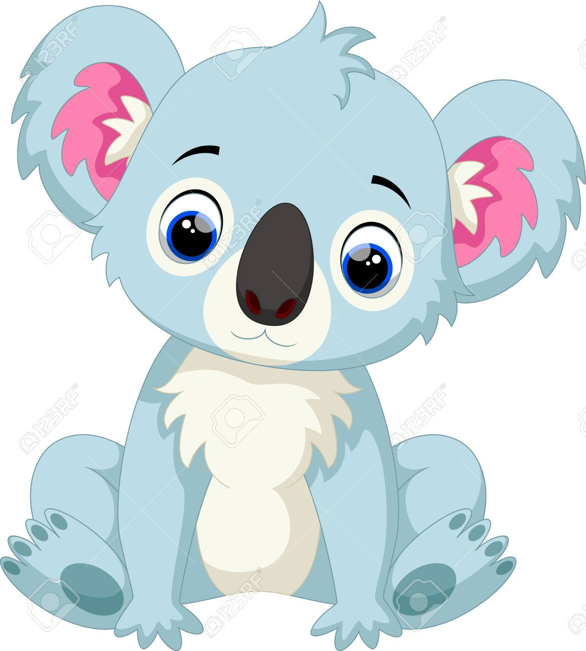 Bebe Mignon Dessin Anime Koala Clip Art Libres De Droits Vecteurs