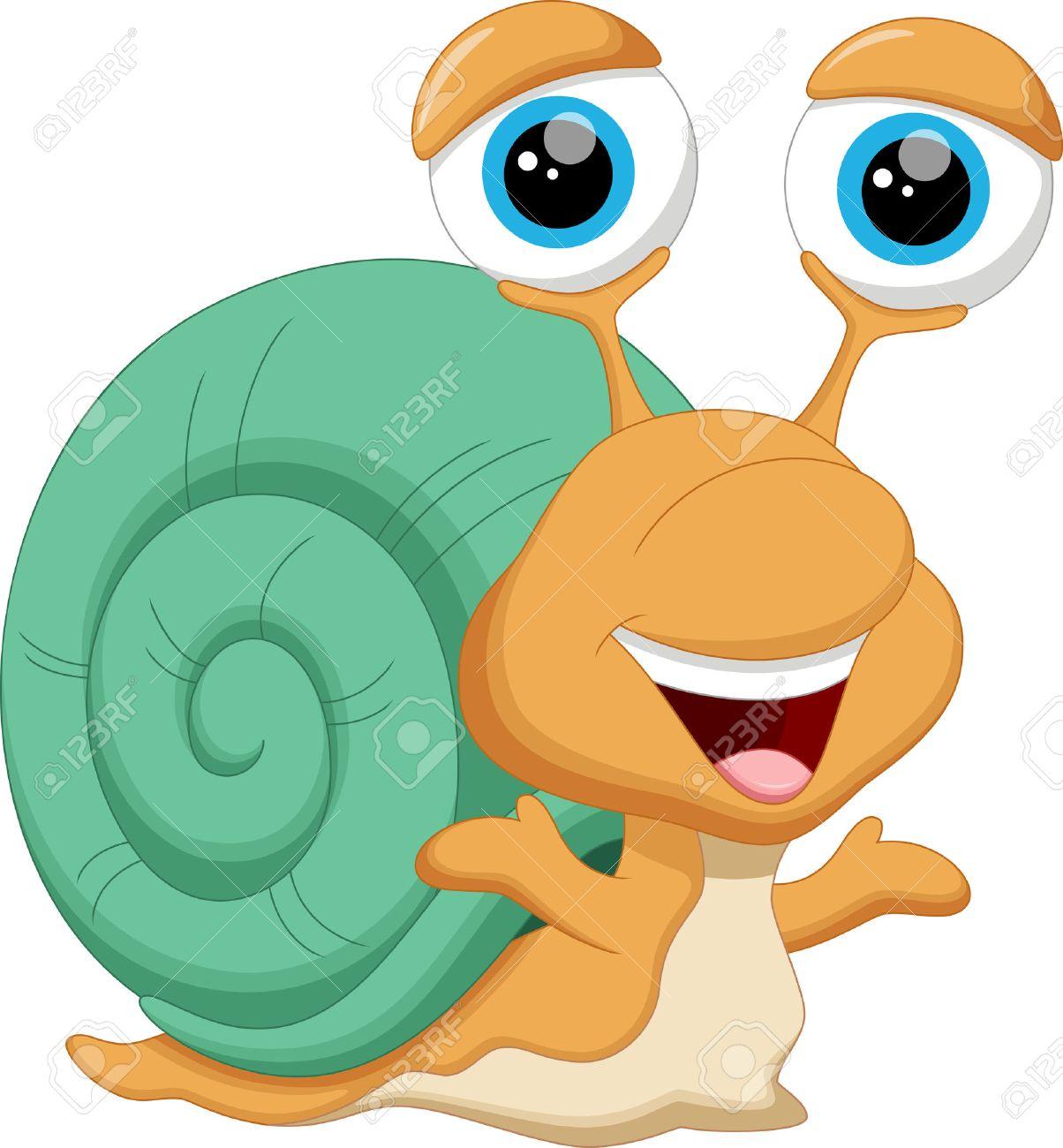 Cute baby snail cartoon - 43828967