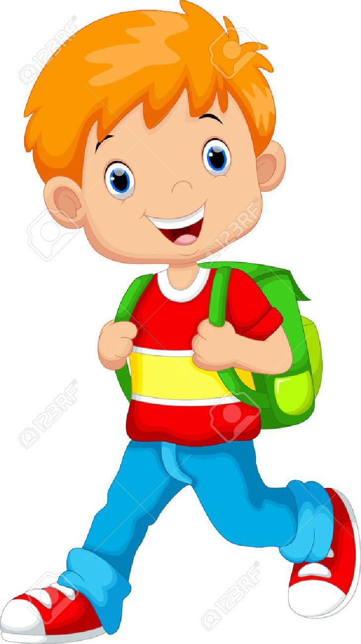 Cute boy on his way to school - 44627355