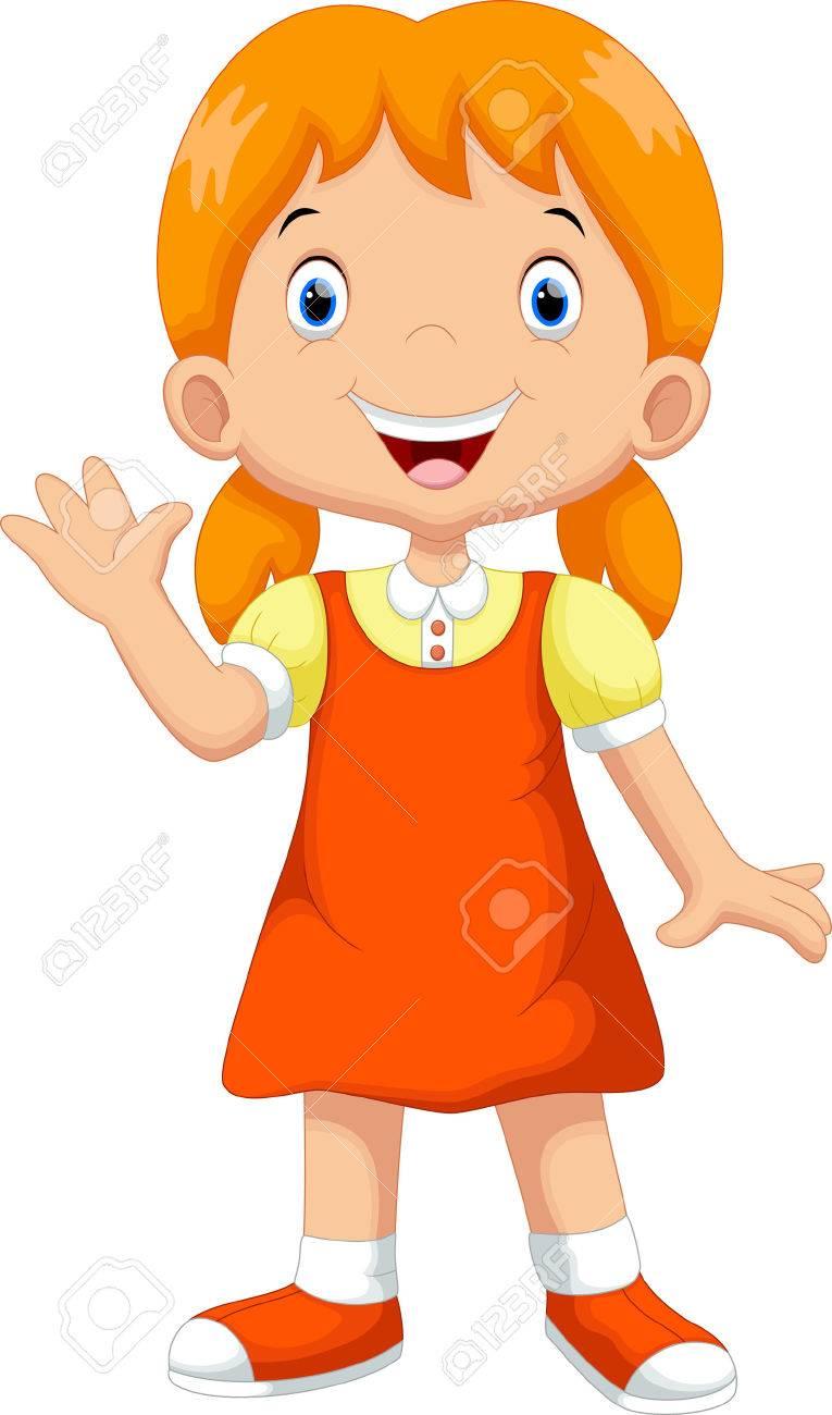Cute girl cartoon - 44627357