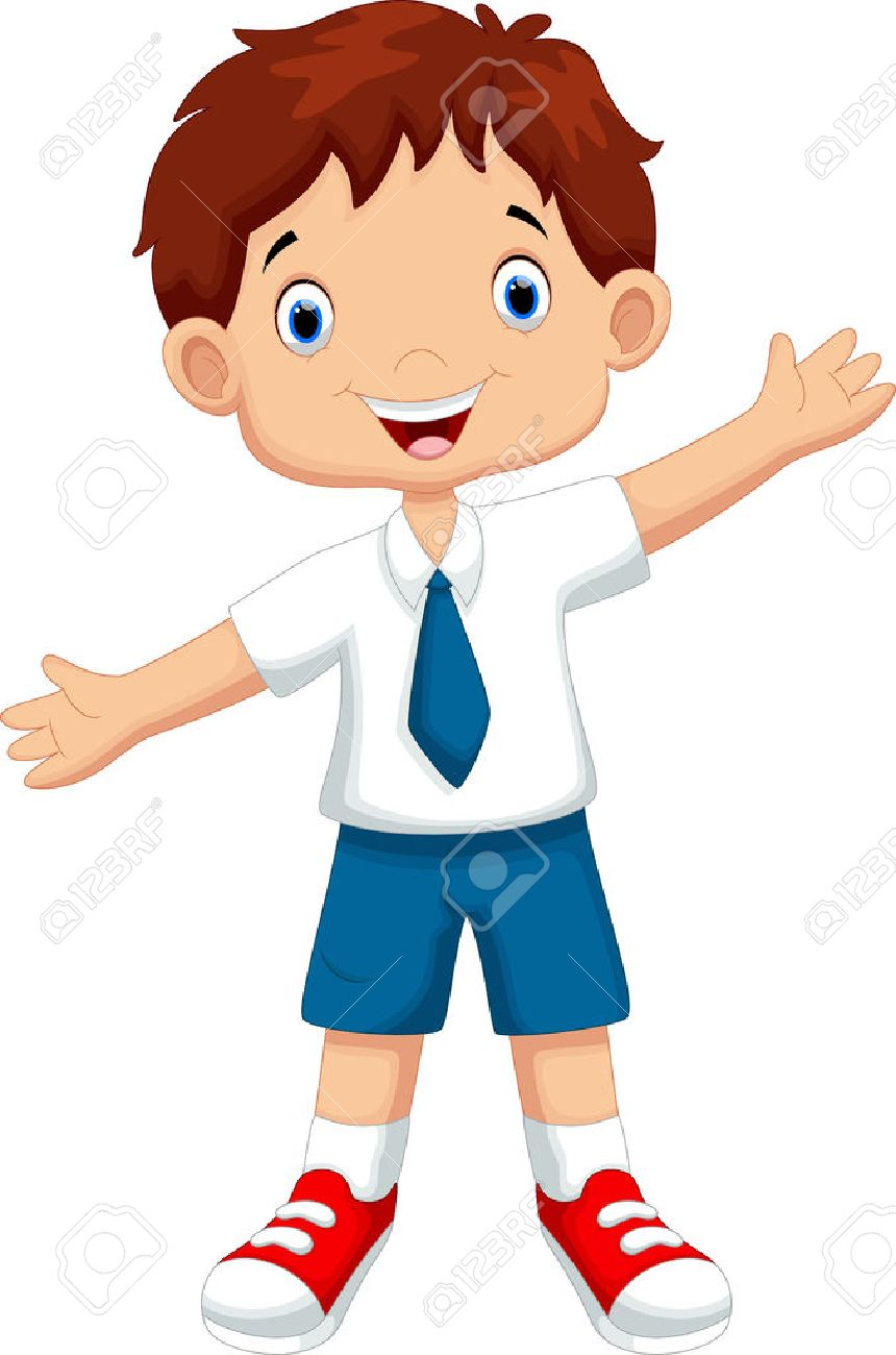 cute boy in a school uniform royalty free cliparts vectors and rh 123rf com school uniform clipart free school uniform clipart free