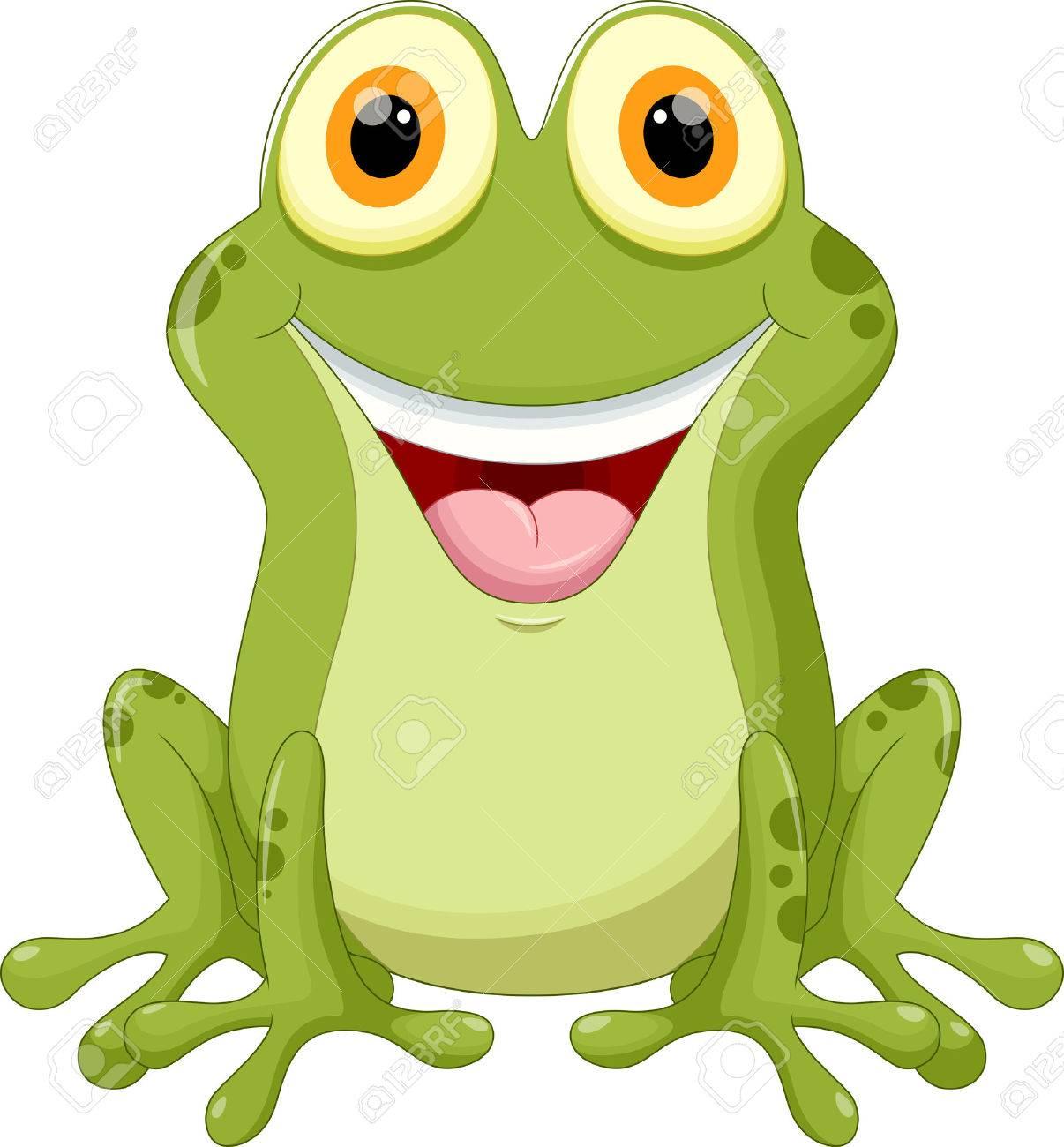 Cute frog cartoon - 44627361