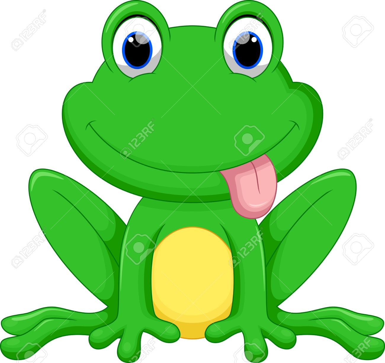 cute frog cartoon royalty free cliparts vectors and stock rh 123rf com Frog Silhouette Vector The Crocodile