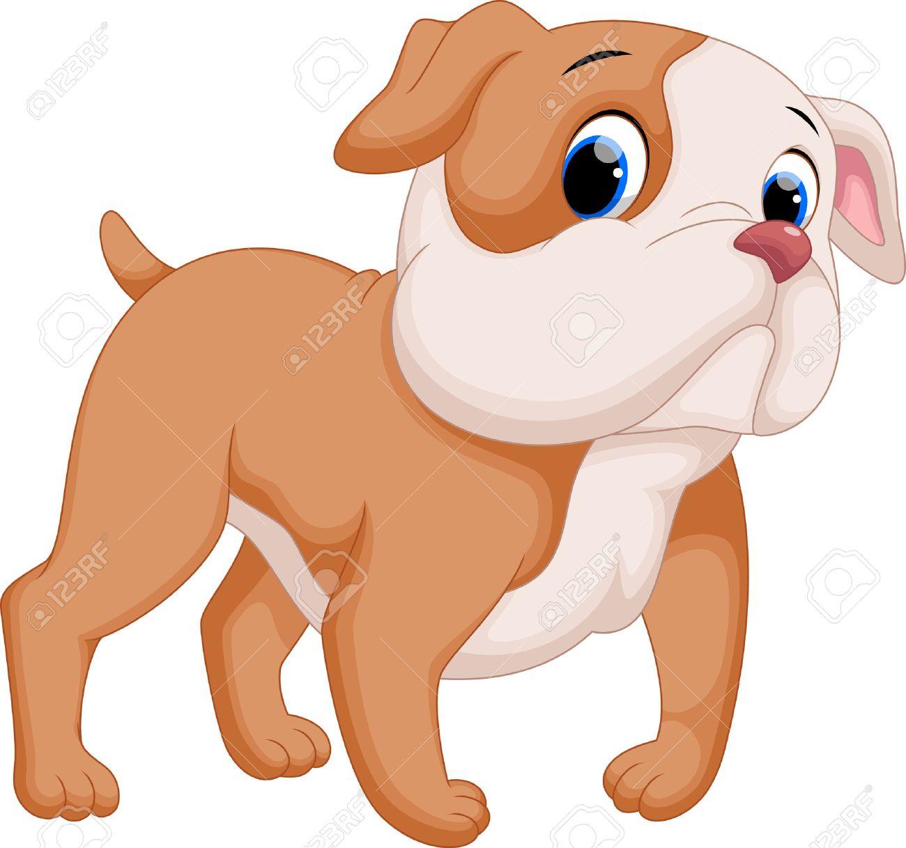 Cute baby pit bull cartoon - 44627974