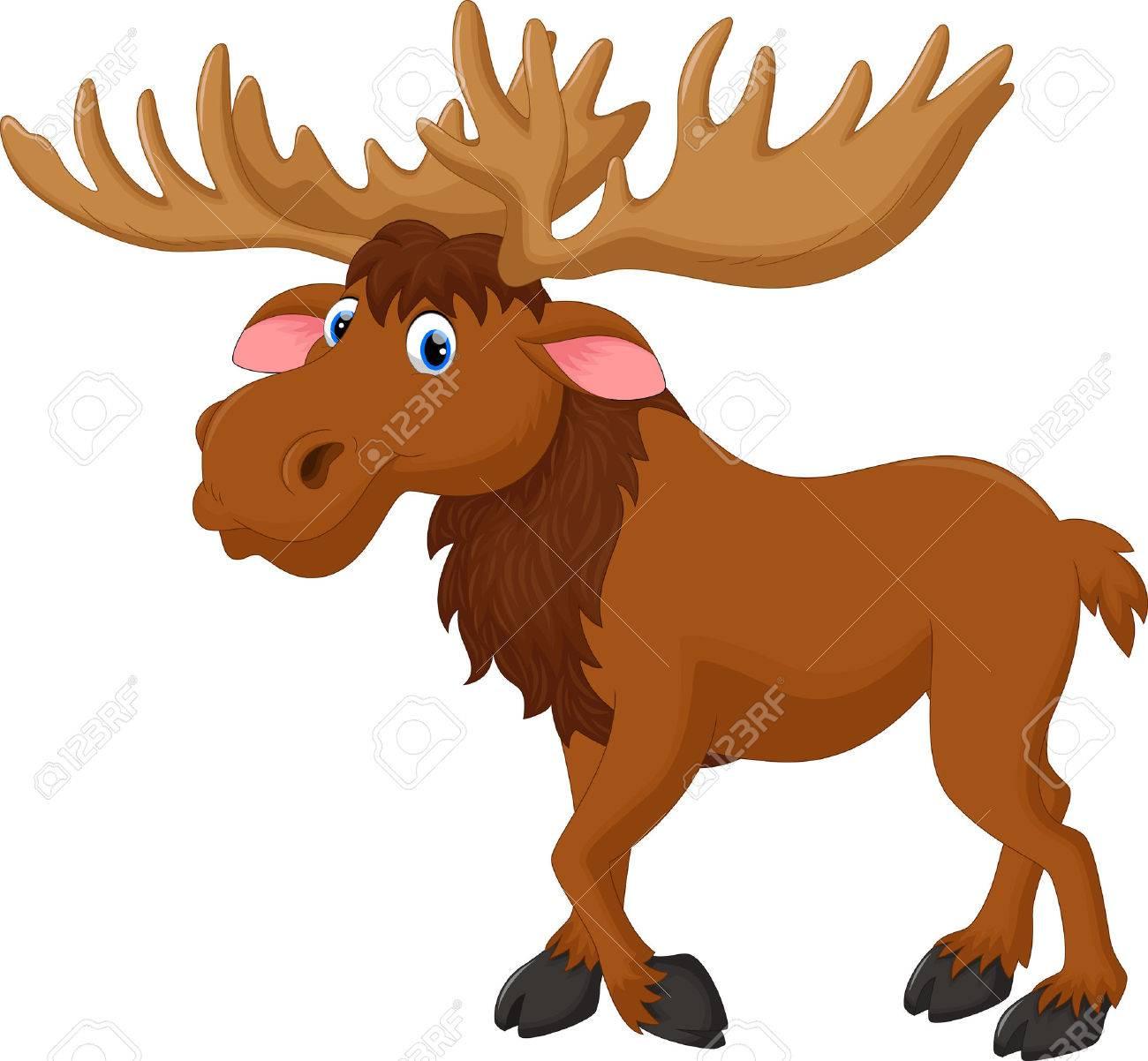 Illustration of moose cartoon - 48070235