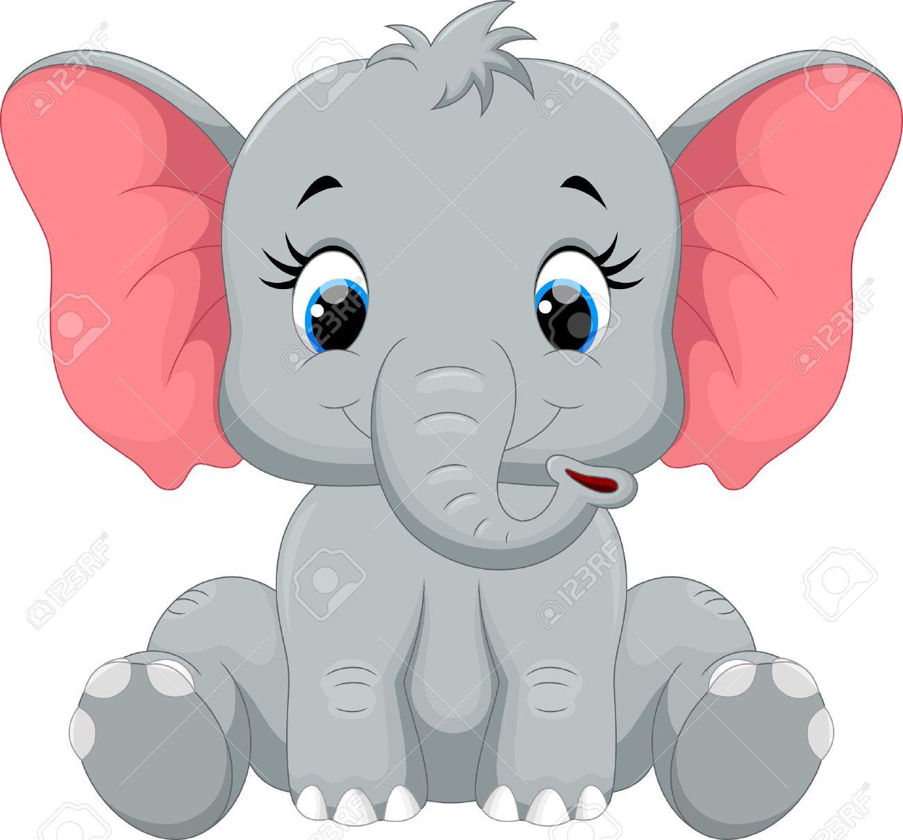Cute elephant cartoon sitting - 50993712