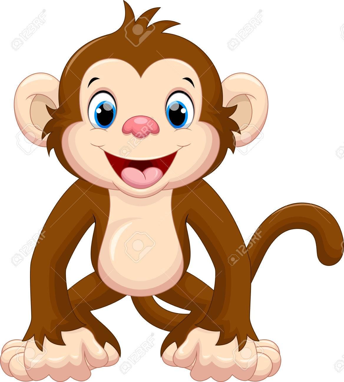 Cute monkey cartoon - 50993719