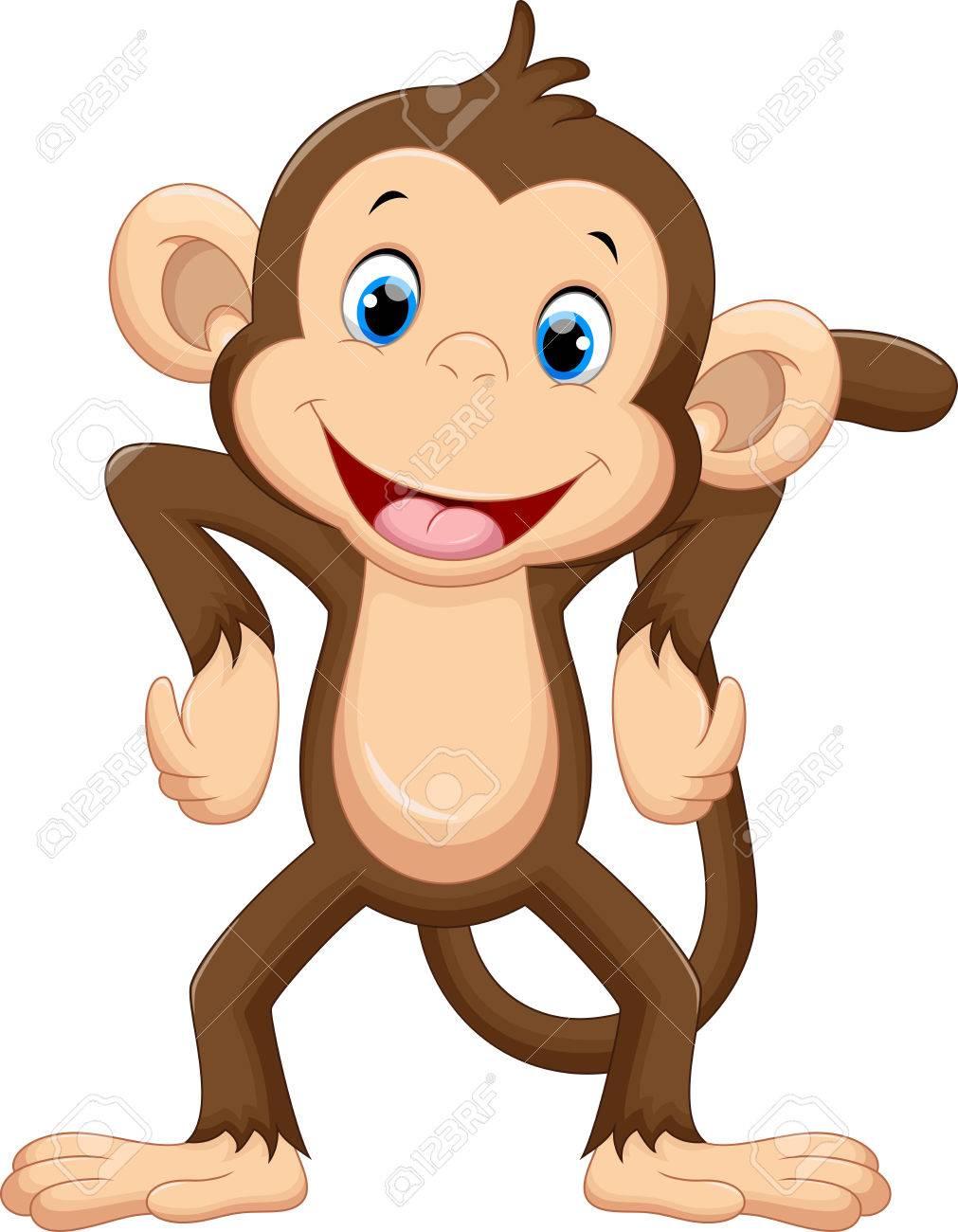 Cute monkey cartoon - 50993718