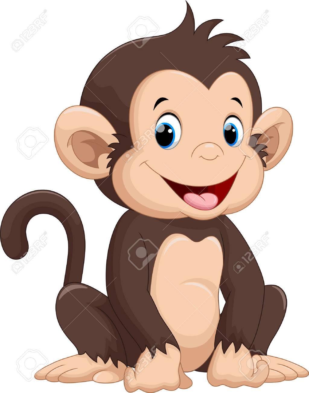 Cute monkey cartoon - 50993717