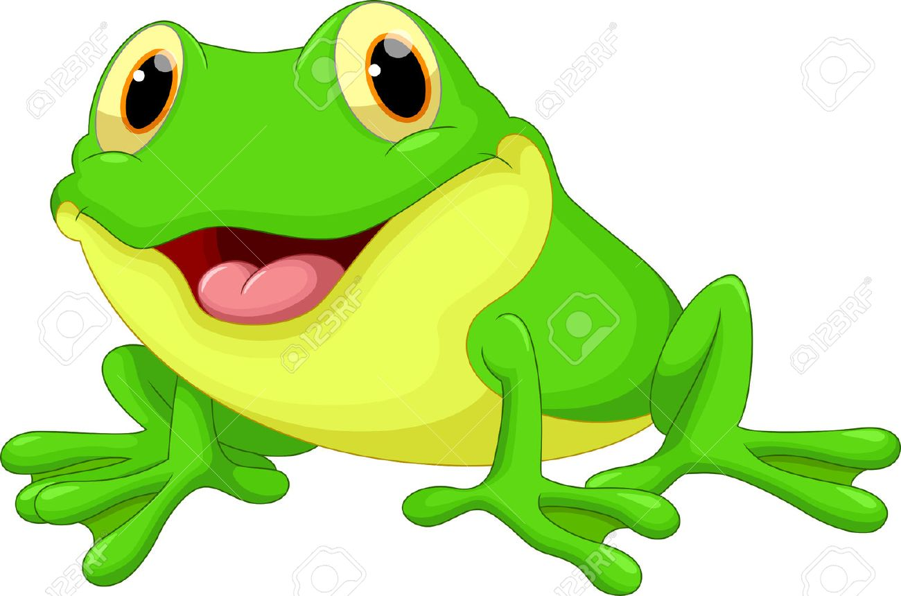 cute frog cartoon royalty free cliparts vectors and stock rh 123rf com Cute Frog Silhouette Tree Frog Vector