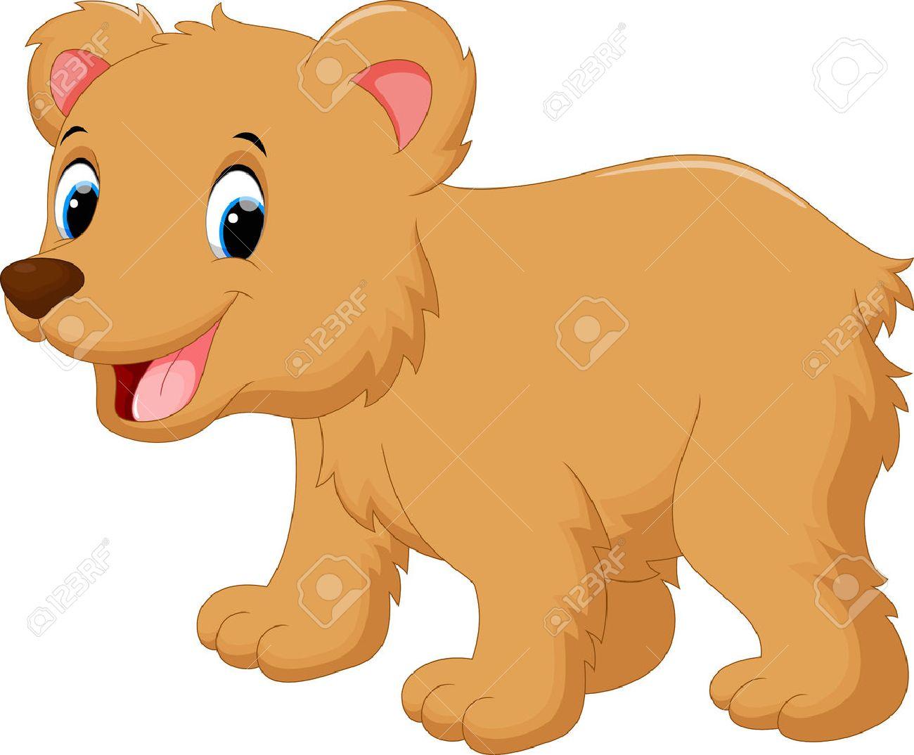 Cute baby bear cartoon Stock Vector - 52404094
