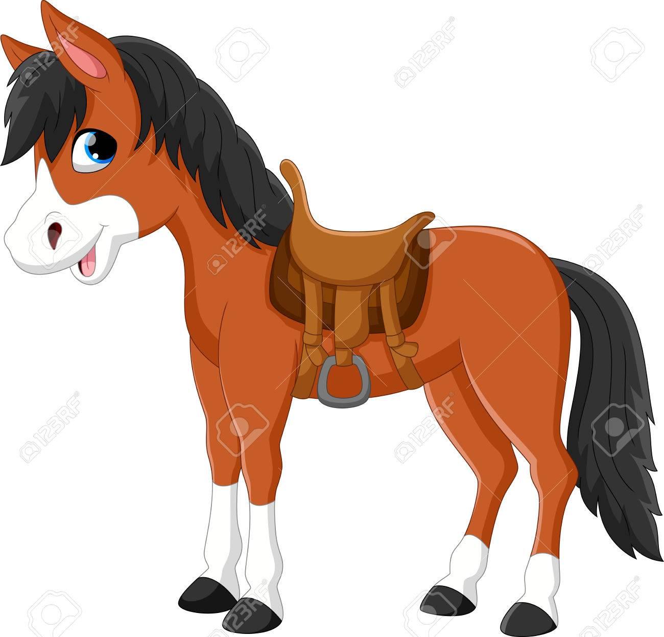 Illustration of a beautiful horse isolated on white background - 55360469