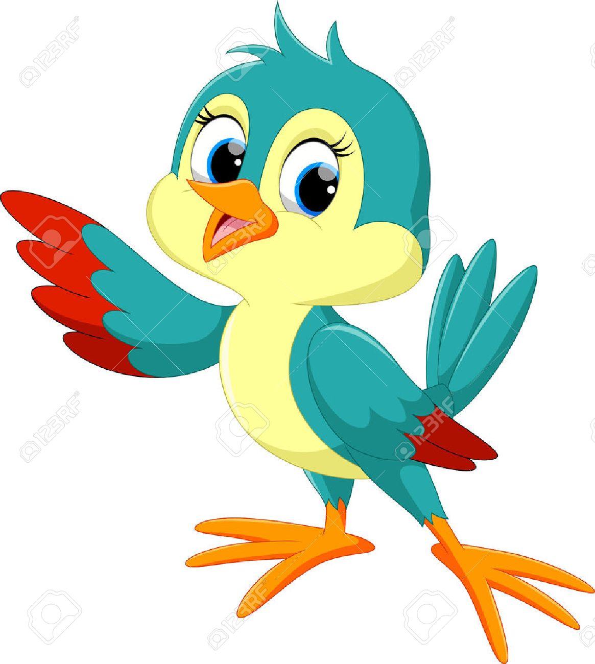 Cute bird cartoon - 55360473