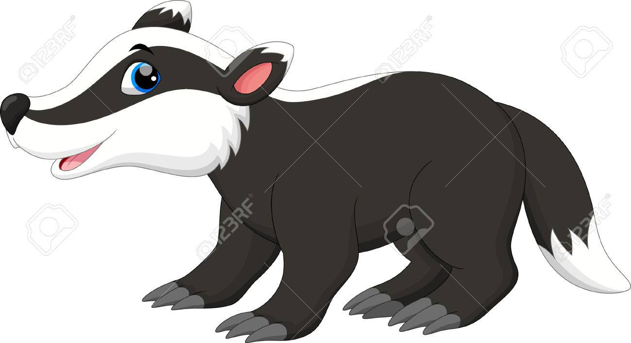 Cute badger cartoon - 55360472