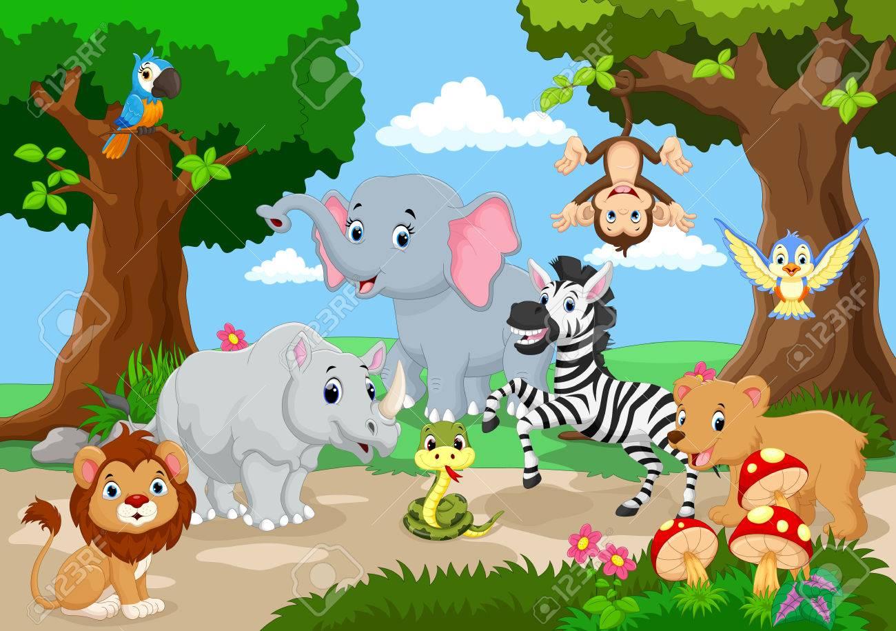 Wild Animal playing in a beautiful garden - 56064389