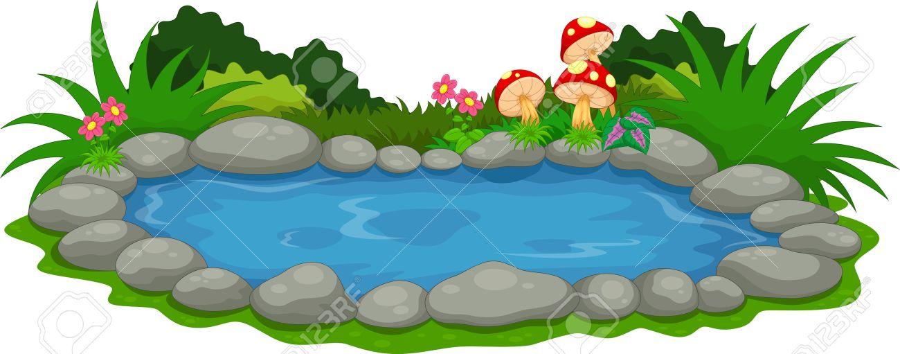A small lake cartoon - 62392798