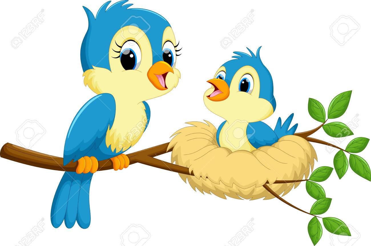 Mother bird with babies - 63653179