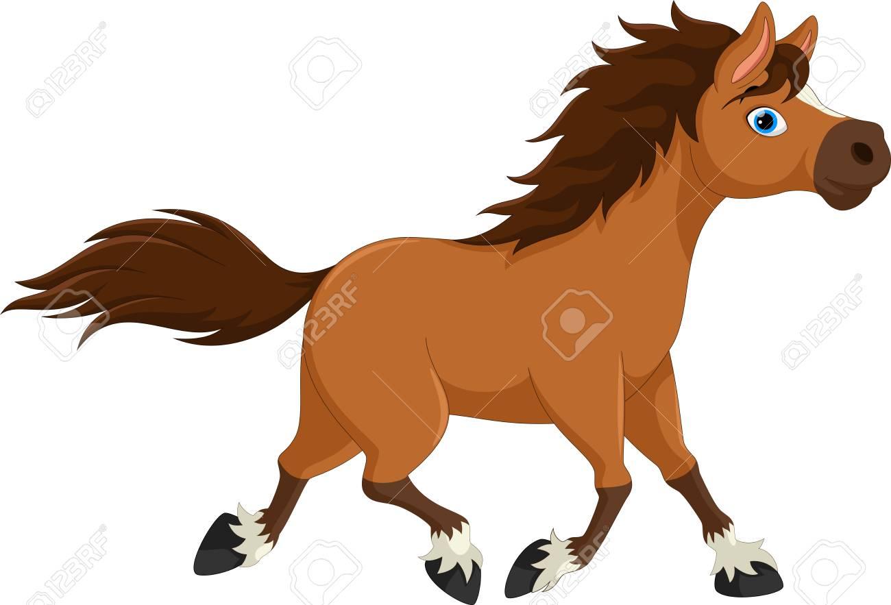 Cute Horse Cartoon Running Royalty Free Cliparts Vectors And Stock Illustration Image 90374398
