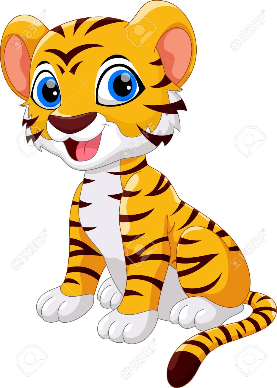 Cute Tiger Cartoon Isolated On White Background Royalty Free Cliparts Vectors And Stock Illustration Image 94897249