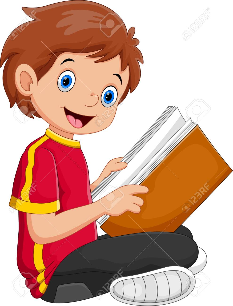 Kid Reading a Book - 137126367