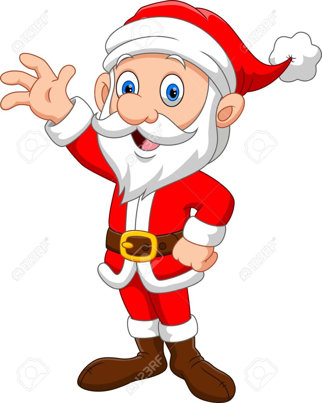 Illustration of Happy Santa Claus cartoon - 135377143