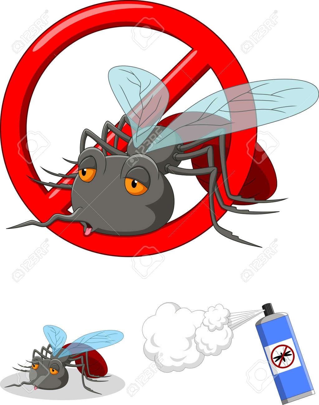 Stop mosquito cartoon - 165285560