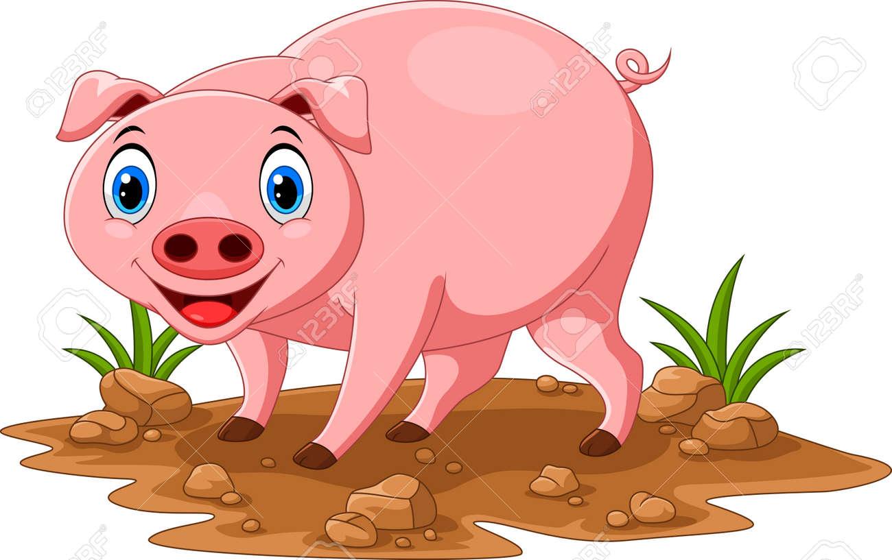 Cute pig cartoon - 165285564